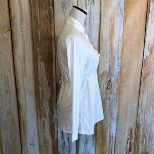 Sophie Tops - Sophie Clothing White Stretch Cotton Shirt sz 40/M